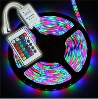 Led strip R/G/B 5mtr. + controller 12Vdc/230Vac