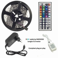 RGB Led strip 5mtr. + controller 230Vac 300Led's