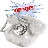 Telefoon met witte pluche